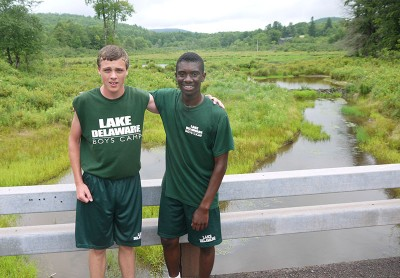 After the run at Lake Delaware Boys' Camp