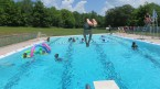 Diving in the Lake Delaware Boys' Camp pool.