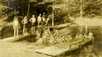 Swimming at Lake Delaware Boys Camp
