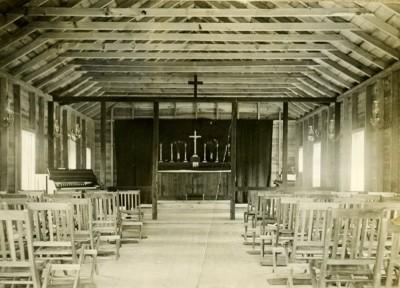 Lake Delaware Boys' Camp Chapel, 1910.