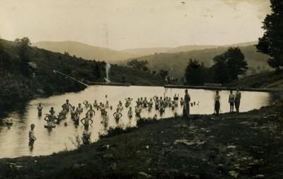 Swimming at Lake Delaware Boys' Camp.