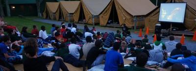 outdoor-movie-lake-delaware-boys-camp