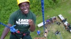 Rope Climbing at Lake Delaware Boys Camp