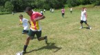 Soccer at Lake Delaware Boys' Camp.