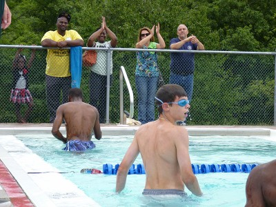 Swimming competition at the LDBC.