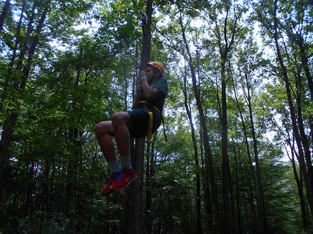 Zip Line Activities at Lake Delaware Boys Camp